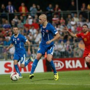 Goal in friendly match Slovakia vs Montenegro